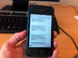 SMS til portører