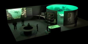 En redering af et Marinarkæologisk Experimentarium Kilde: Vikingeskibsmuseet