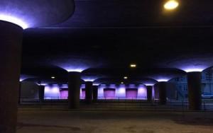 Lyset under Langebro er koblet til broens lyd og bølger i takt med lyden fra trafikken. Foto: Københavns Kommune